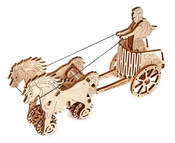 3D-пазл механический Wooden.City Римская колесница<br>