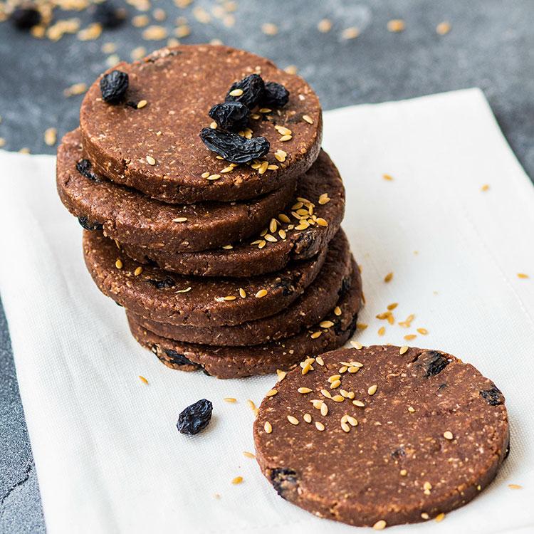 Печенье Шоколадное с изюмом<br>