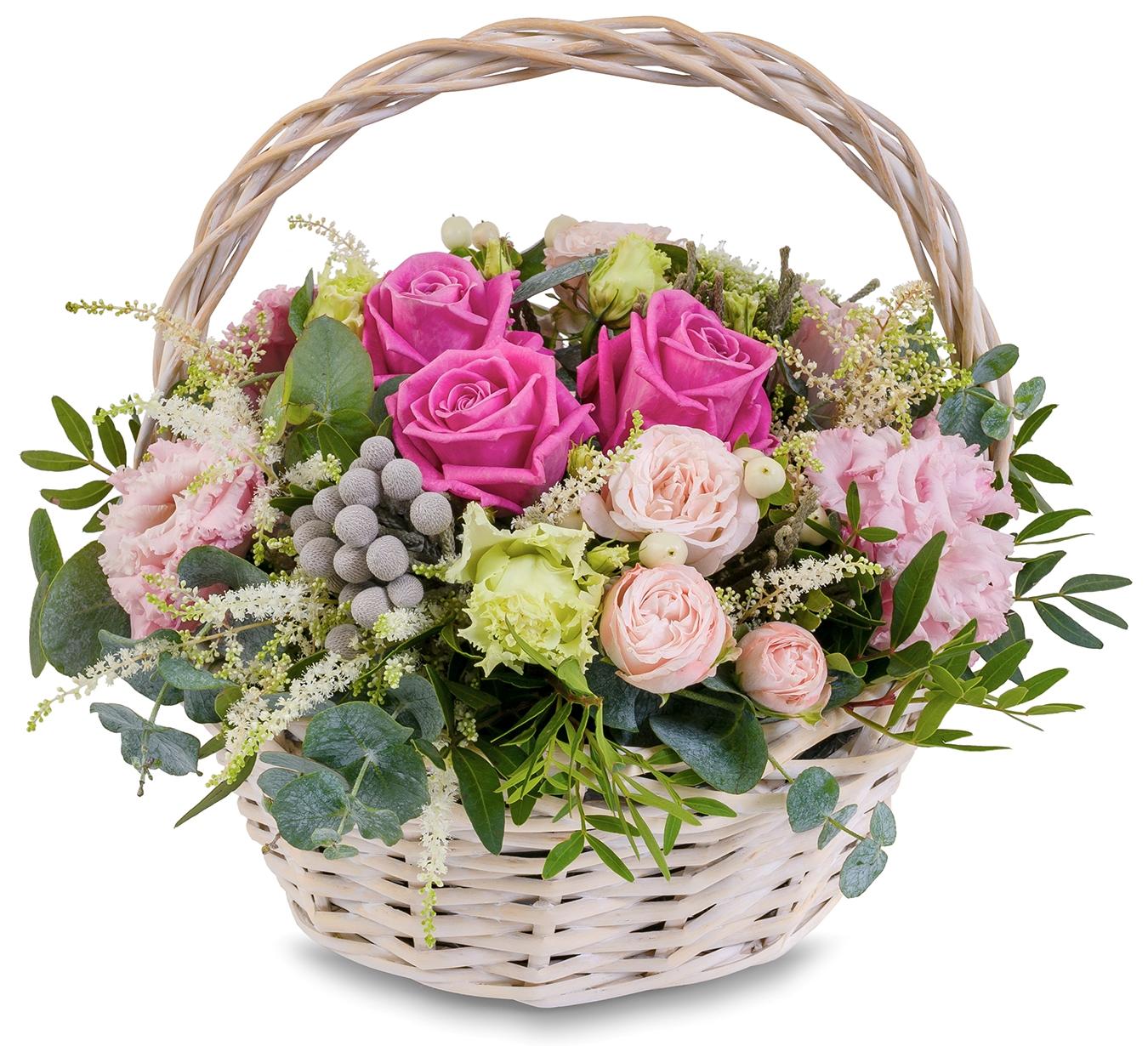 Купить цветы в корзине недорого в спб