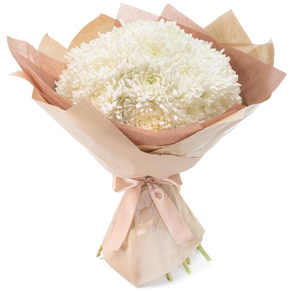 Авторский букет цветов Хризантема Антонов