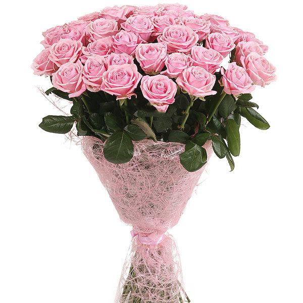 Букет из 33 роз (60см)<br>Ростовка: 50, 60, 70, 80; Состав букета: Розовая роза, Оранжевая роза, Белая роза, Желтая роза, Красная роза, Малиновая роза, Коралловая роза, Кремовая роза, MIX из роз;