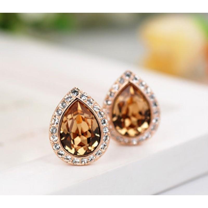 Серьги Лира с кристаллами Сваровски<br>