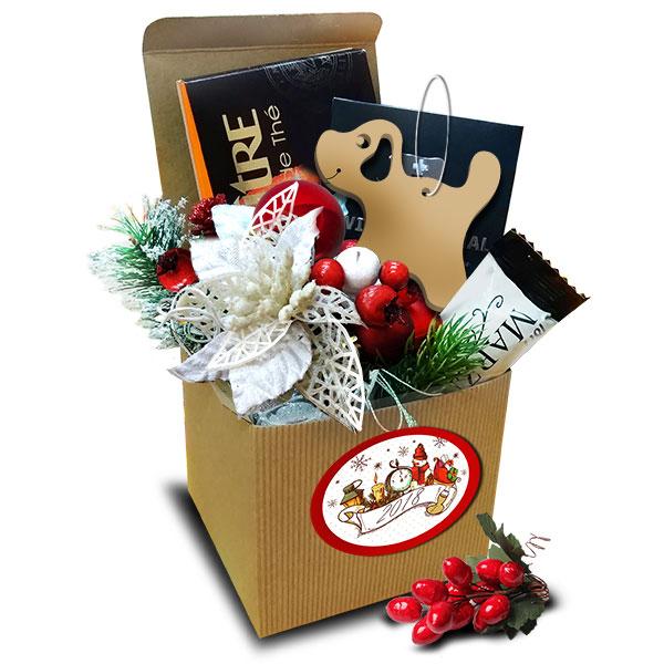 Подарочный набор Белый цветок с символом года<br>