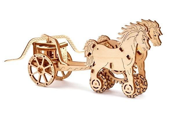3D-пазл механический Wooden.City Колесница Да Винчи<br>