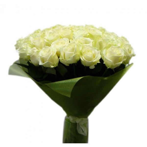 Букет из 25 роз (70см)<br>Ростовка: 50, 60, 70, 80; Состав букета: Розовая роза, Оранжевая роза, Белая роза, Желтая роза, Красная роза, Малиновая роза, Коралловая роза, Кремовая роза, MIX из роз;
