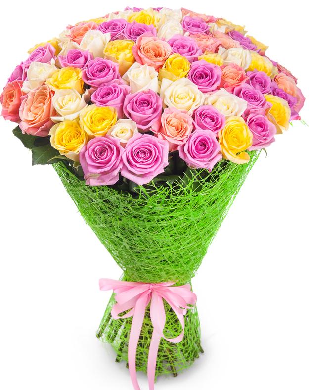 Букет цветов из 71 розы (70см) цена