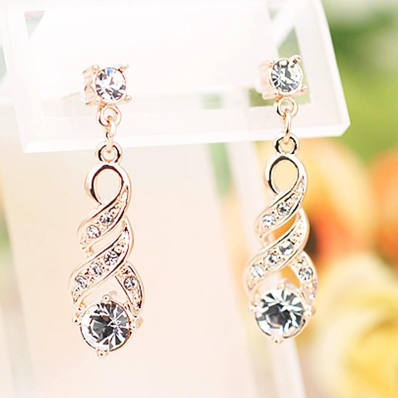 Серьги Венеция с австрийскими кристаллами<br>