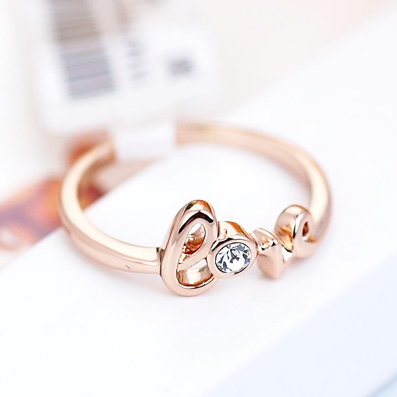 Кольцо С любовью с австрийскими кристаллами<br>
