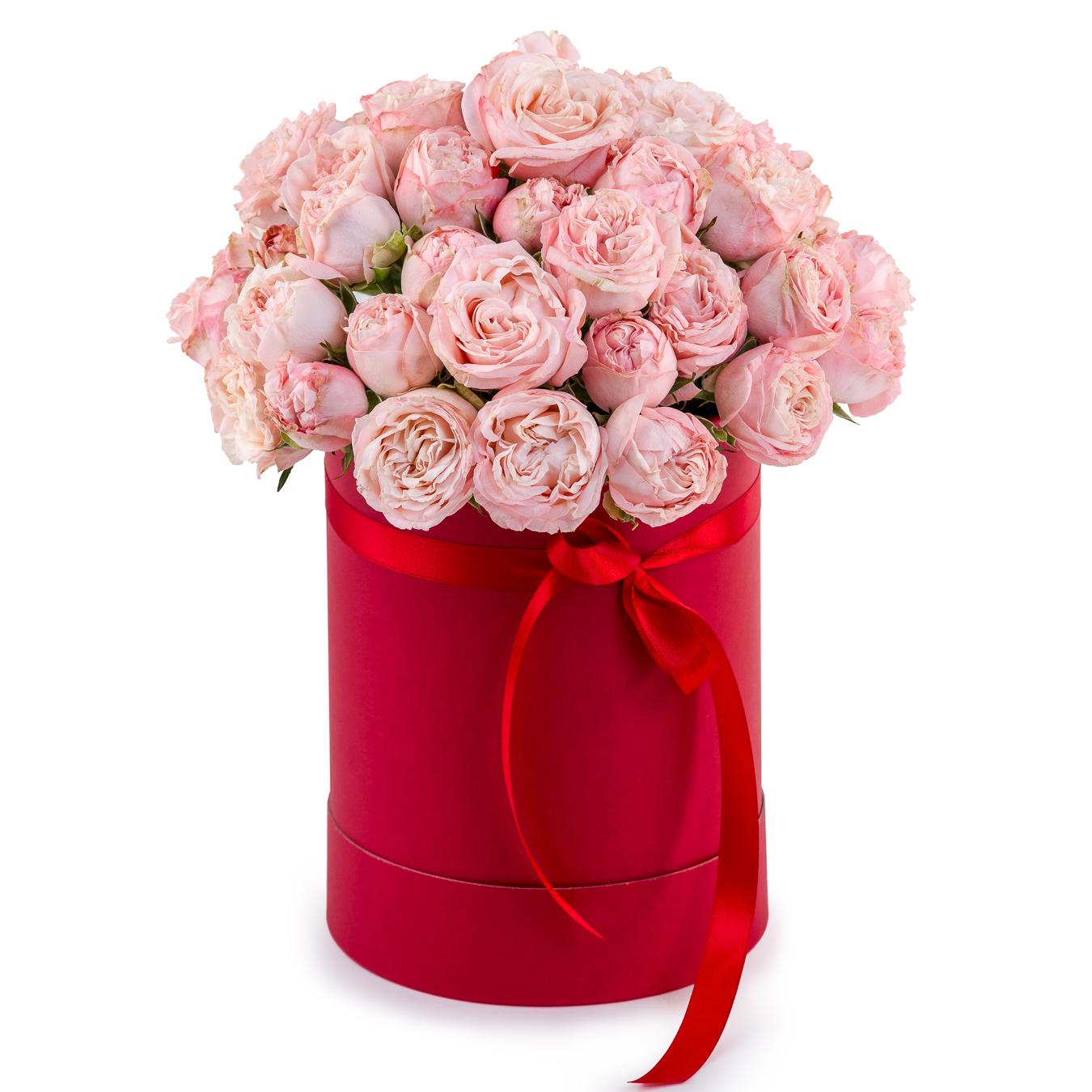 Авторский букет цветов Венский кофе<br>Ингредиенты: Оазис 2 шт, Роза пионовидная 13 шт, Коробка флобокс 1 шт;