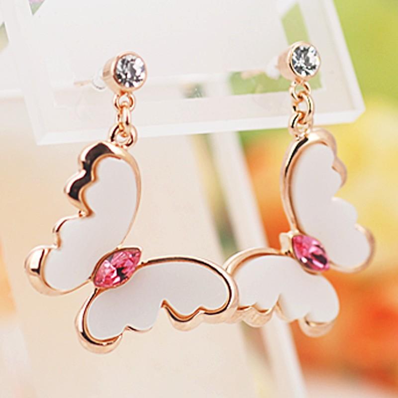 Серьги Поцелуй бабочки<br>