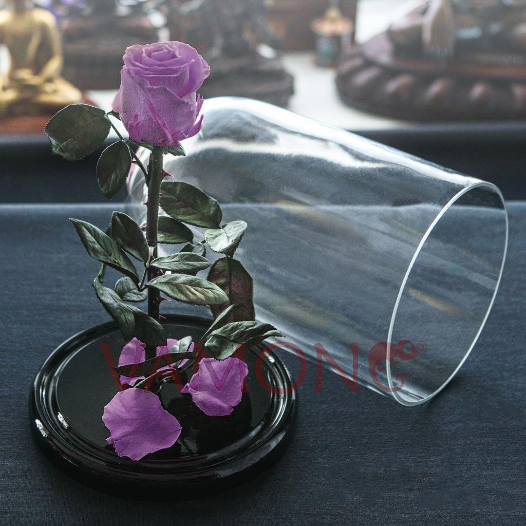 Роза в колбе фиолетового цвета<br>