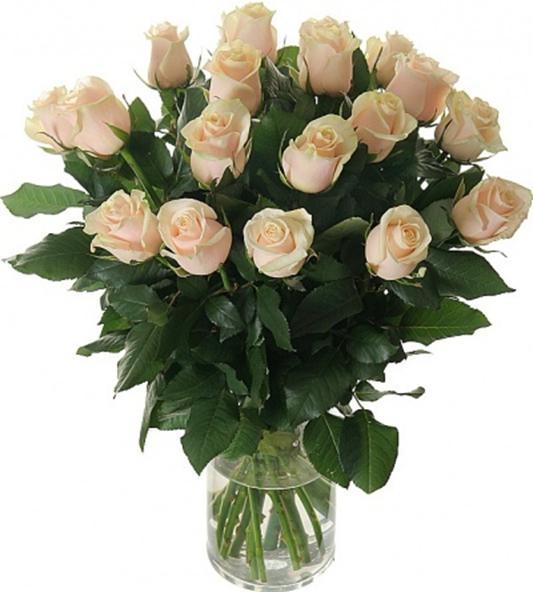 Букет из 19 роз (70см)<br>Ростовка: 50, 60, 70, 80; Состав букета: Розовая роза, Оранжевая роза, Белая роза, Желтая роза, Красная роза, Малиновая роза, Коралловая роза, Кремовая роза;