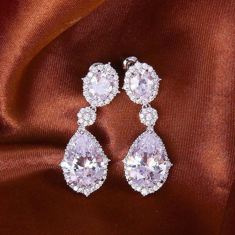 Серьги Миледи с цирконием и австрийскими кристаллами<br>