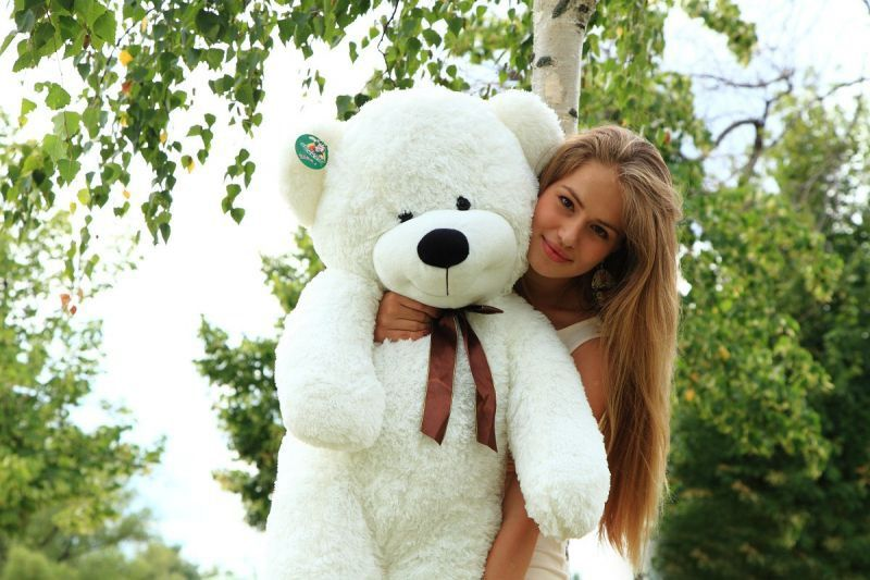 Медведь НЕСТОР БЕЛЫЙ 120 см<br>