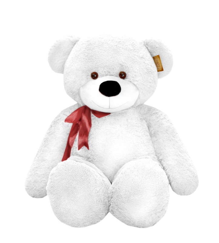 Медведь Нестор белый (120 см)<br>