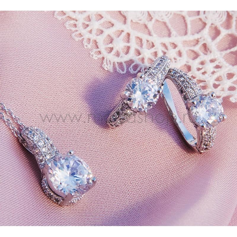 Комплект Свадебный с цирконием и австрийскими кристаллами<br>